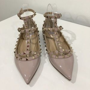 Authentic Valentino Garavani Rockstud Caged Flats
